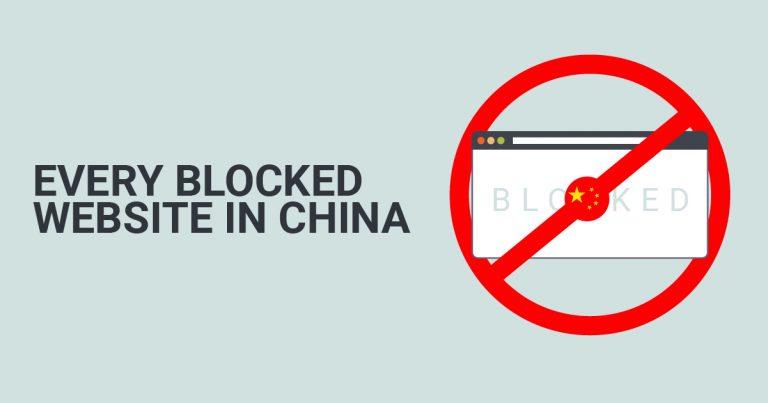 Website-Website yang Diblokir di China